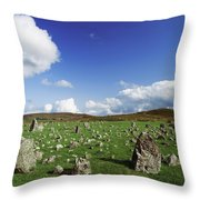 Stone Circles On A Landscape, Beaghmore Throw Pillow