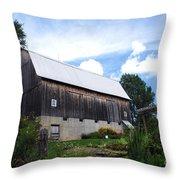 Stone Cottage Barn Throw Pillow