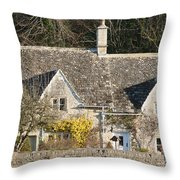 Stone Cottages Throw Pillow
