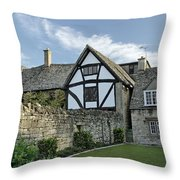 Stone Cottages In Broadway - Gloucestershire Throw Pillow