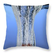 Stone Dropped In Water Throw Pillow