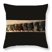 Stone Faces Throw Pillow