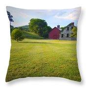 Stone Farmhouse In Vermont Throw Pillow