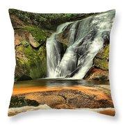 Stone Mountain Window Falls Throw Pillow
