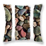 Stone Triptych 3 Throw Pillow