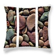 Stone Triptych Throw Pillow