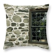 Stone Wall With A Window Throw Pillow