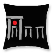 Stonehenge At The Winter Solstice Throw Pillow