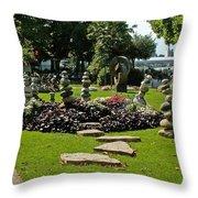 Stones Of Montreux Throw Pillow
