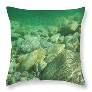 Stones Under The Water Throw Pillow