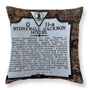 Stonewall Jackson House Throw Pillow by Todd Hostetter