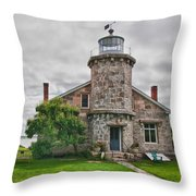 Stonington Lighthouse Museum Throw Pillow
