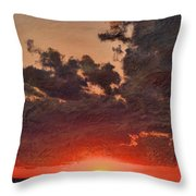 Stony Clouds Throw Pillow