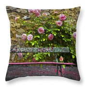 Stop And Smell The Roses Throw Pillow