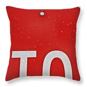 Stop Throw Pillow