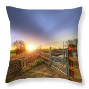 Stop Look Listen Throw Pillow