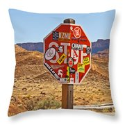 Stop Or What Throw Pillow