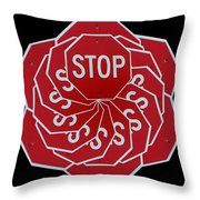 Stop Sign Kalidescope Throw Pillow