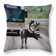 Stopping Traffic Throw Pillow