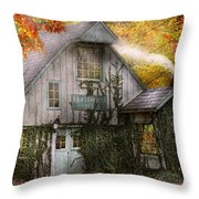 Store - Hollyhocks And Ivy  Throw Pillow