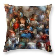 Store - The Busy Marketpalce Throw Pillow