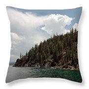 Storm Ahead Lake Tahoe Throw Pillow