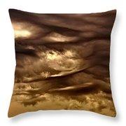 Storm Approaches Throw Pillow