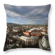 Storm Approaching Oslo Throw Pillow