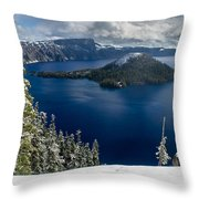 Storm Clearing At Discovery Point Throw Pillow