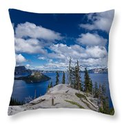 Storm Clearing From Discovery Point Throw Pillow
