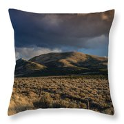 Storm Clearing Over Great Basin Throw Pillow