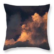Storm Cloud Highlighted By Sun Throw Pillow