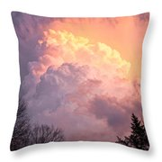 Storm Cloud Moving In On West Michigan Throw Pillow