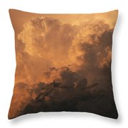 Storm Clouds Gather Over The Badlands Throw Pillow