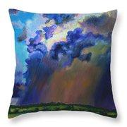 Storm Clouds Over Missouri Throw Pillow