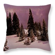 Storm Clouds Over The Monte Cristo Summit Throw Pillow