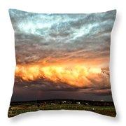 Storm Glow Throw Pillow