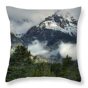 Storm  In The Tetons Throw Pillow