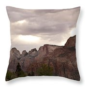 Storm In Zion Throw Pillow