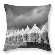 Storm Light On Grain Stacks Not Far Throw Pillow