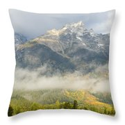 Storm On Grand Teton Throw Pillow