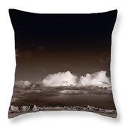 Storm Over Badlands Throw Pillow