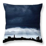 Storm Over City, Tyne And Wear, England Throw Pillow
