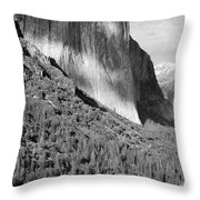 Storm Over El Capitan Throw Pillow