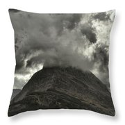 Storm Over Grinnell Throw Pillow