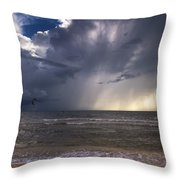 Storm Rider Throw Pillow by Nick  Shirghio