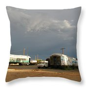 Storm Sky Over The Old Railyard Throw Pillow