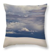 Storm's Contrast With White Sand Throw Pillow