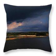 Storms Over Sardis Throw Pillow