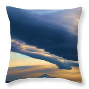 Storms Over Shasta Throw Pillow